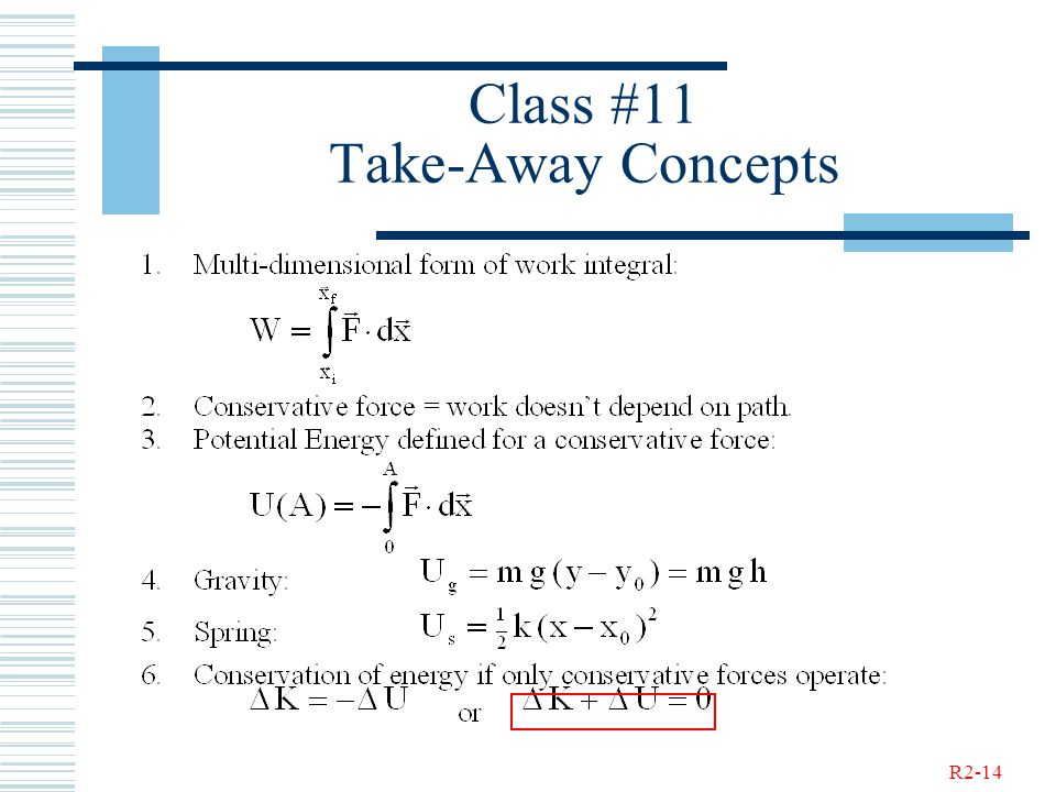 R2-14 Class #11 Take-Away Concepts