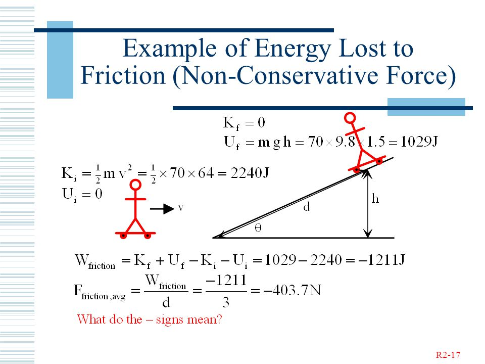 R2-17 Example of Energy Lost to Friction (Non-Conservative Force)