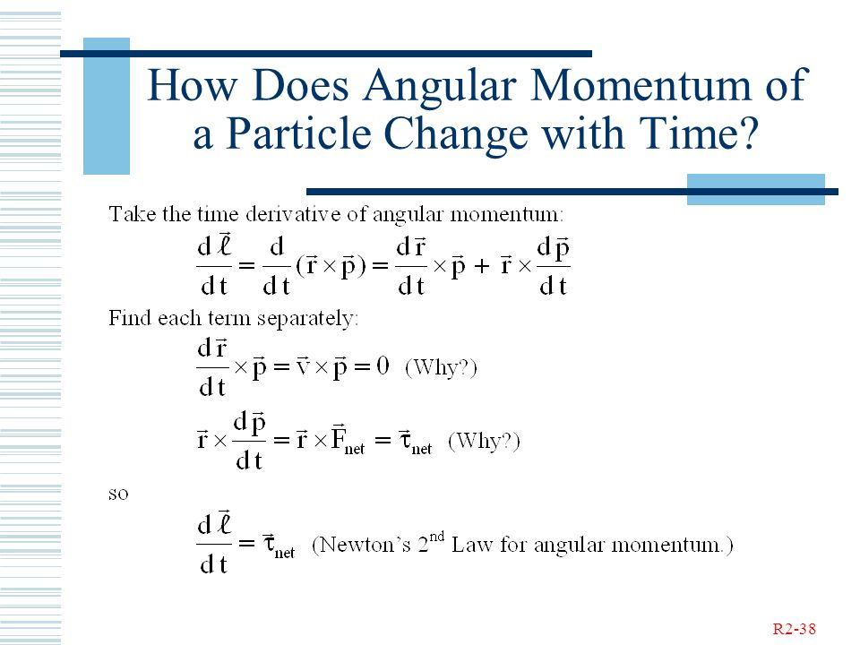 R2-38 How Does Angular Momentum of a Particle Change with Time?