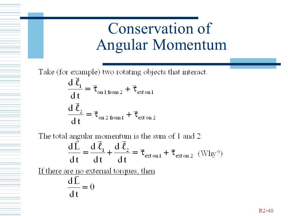 R2-40 Conservation of Angular Momentum