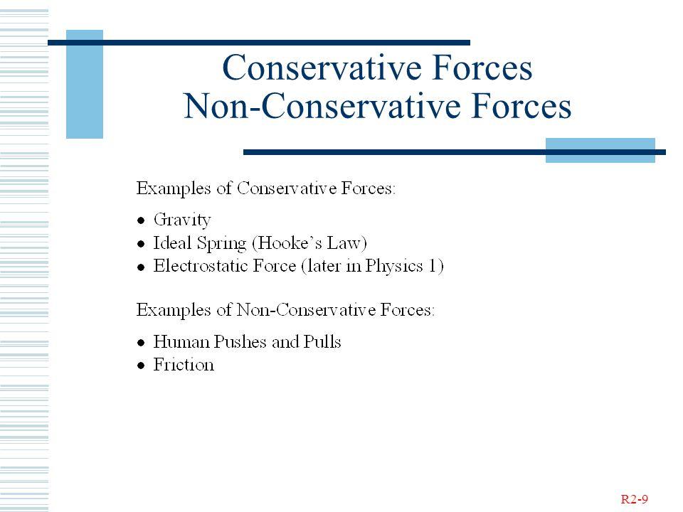 R2-9 Conservative Forces Non-Conservative Forces