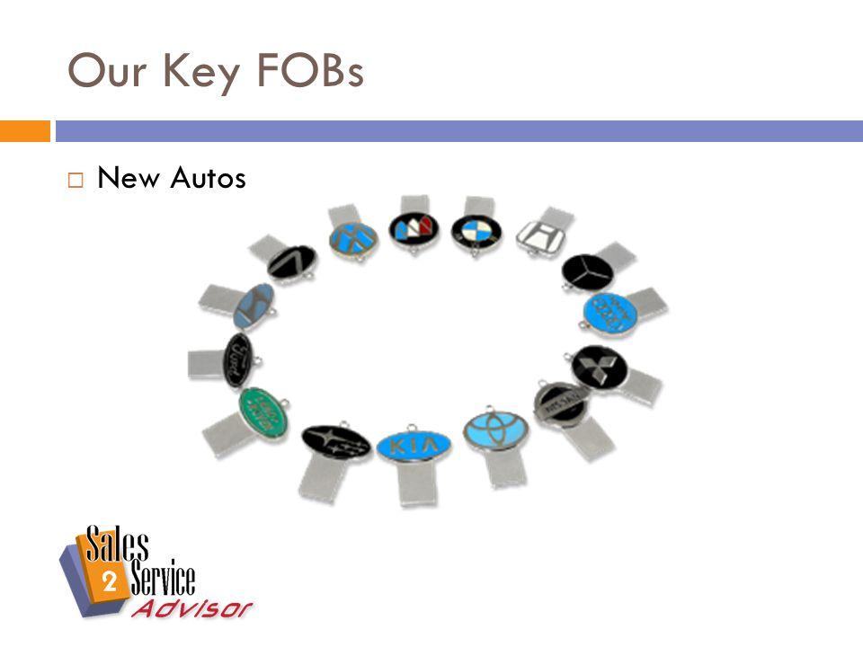 Our Key FOBs  New Autos