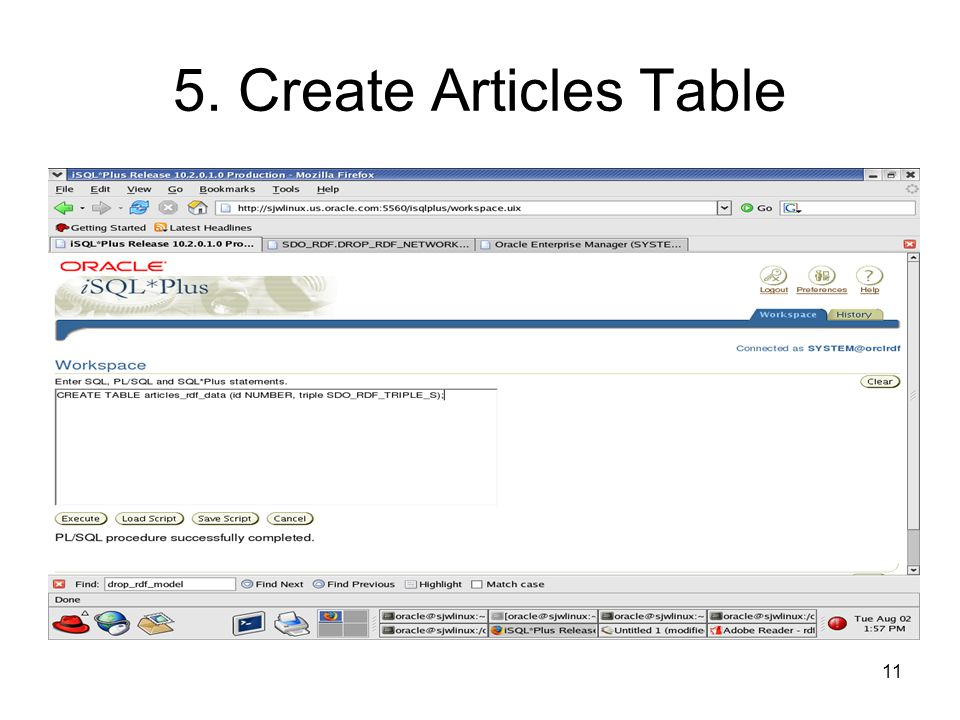 11 5. Create Articles Table