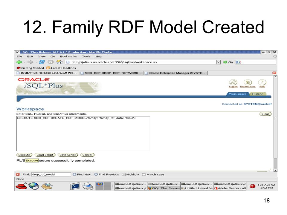 18 12. Family RDF Model Created
