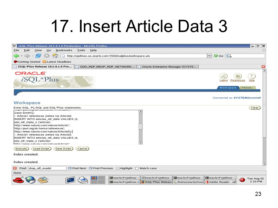 23 17. Insert Article Data 3