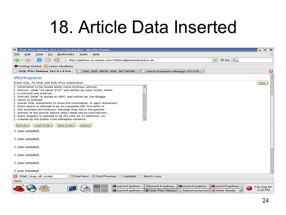 24 18. Article Data Inserted