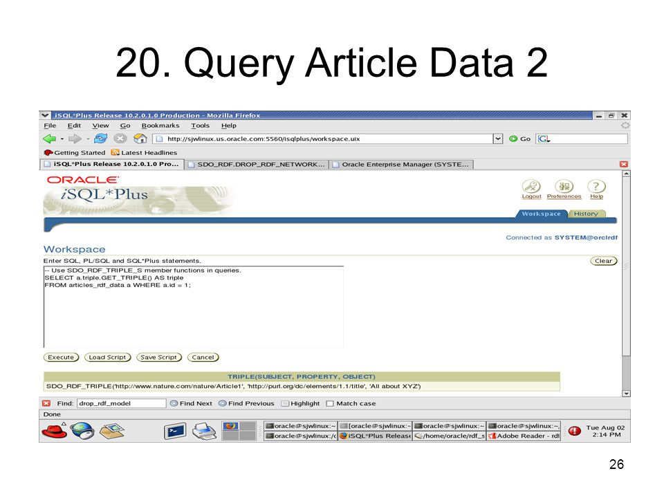 26 20. Query Article Data 2