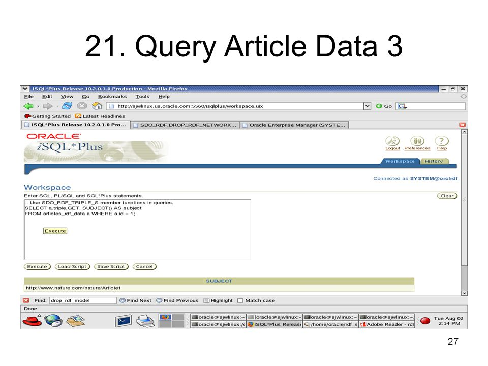 27 21. Query Article Data 3