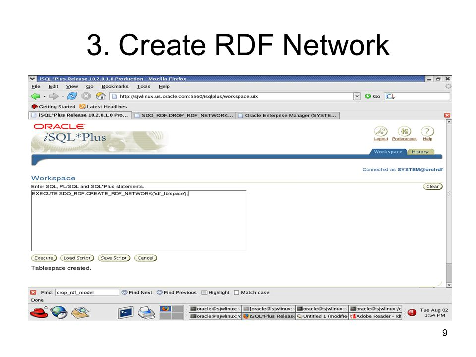 9 3. Create RDF Network