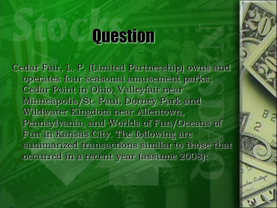 Question Cedar Fair, L. P.