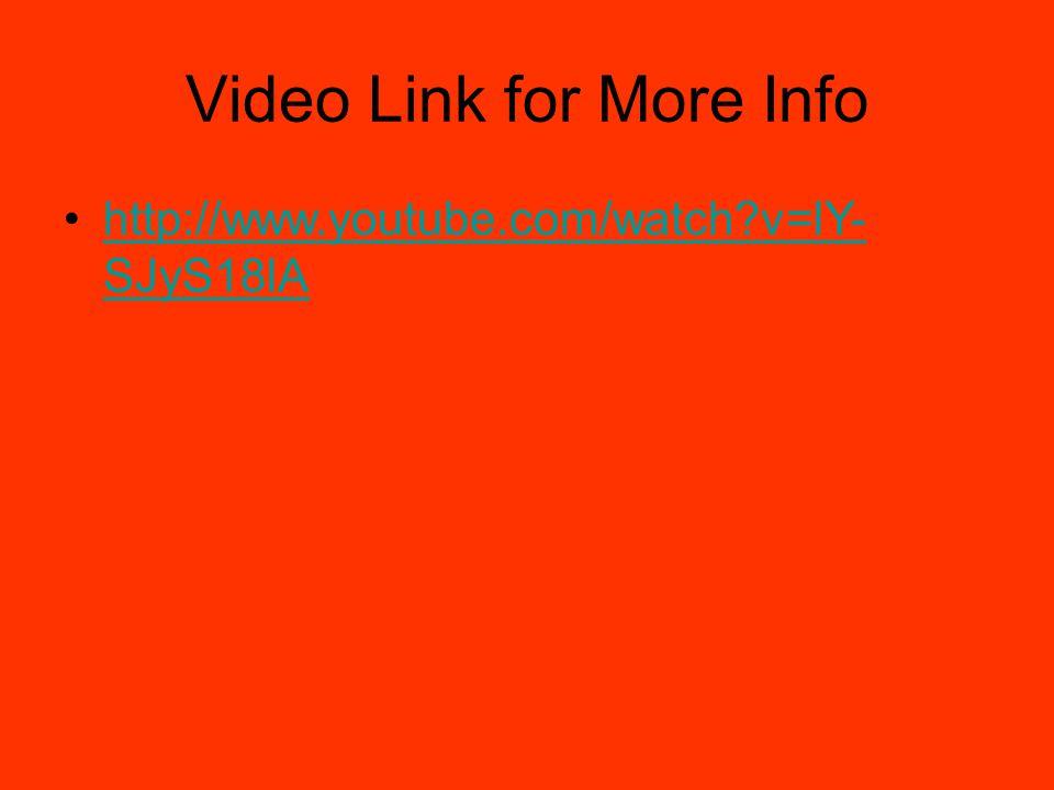 Video Link for More Info http://www.youtube.com/watch?v=lY- SJyS18lAhttp://www.youtube.com/watch?v=lY- SJyS18lA