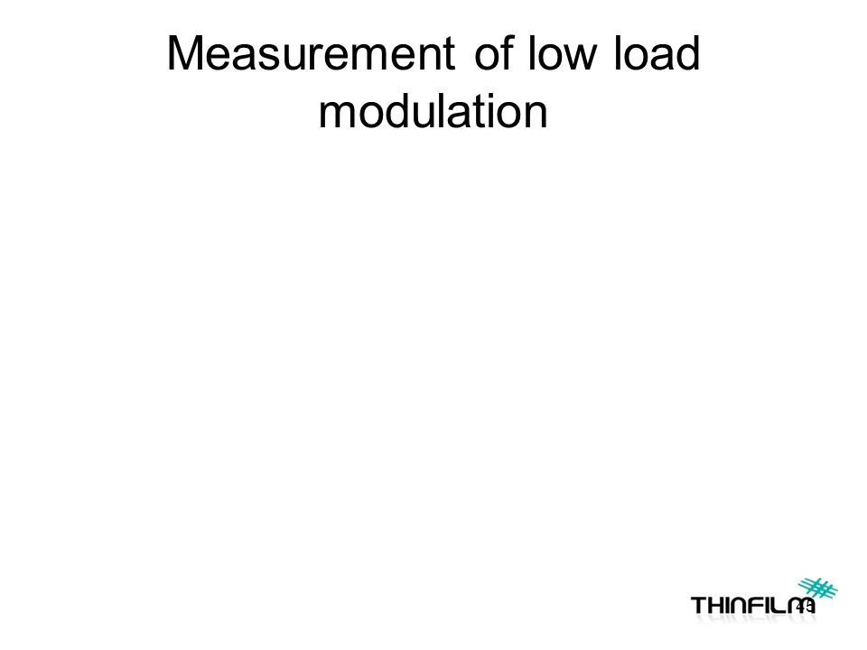 Measurement of low load modulation 45