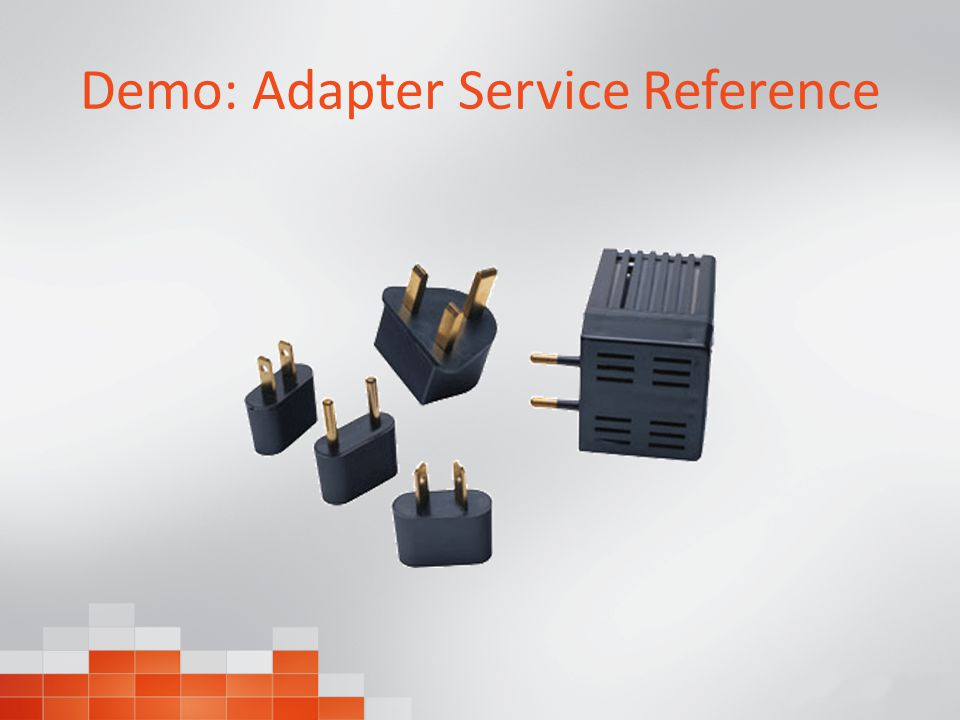 Demo: Adapter Service Reference