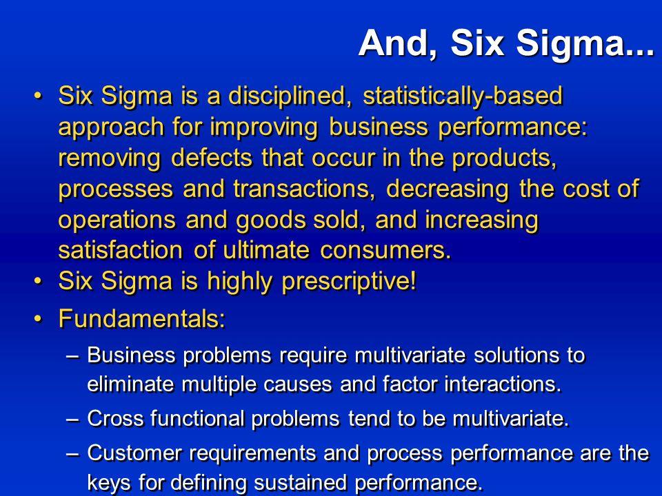 And, Six Sigma...