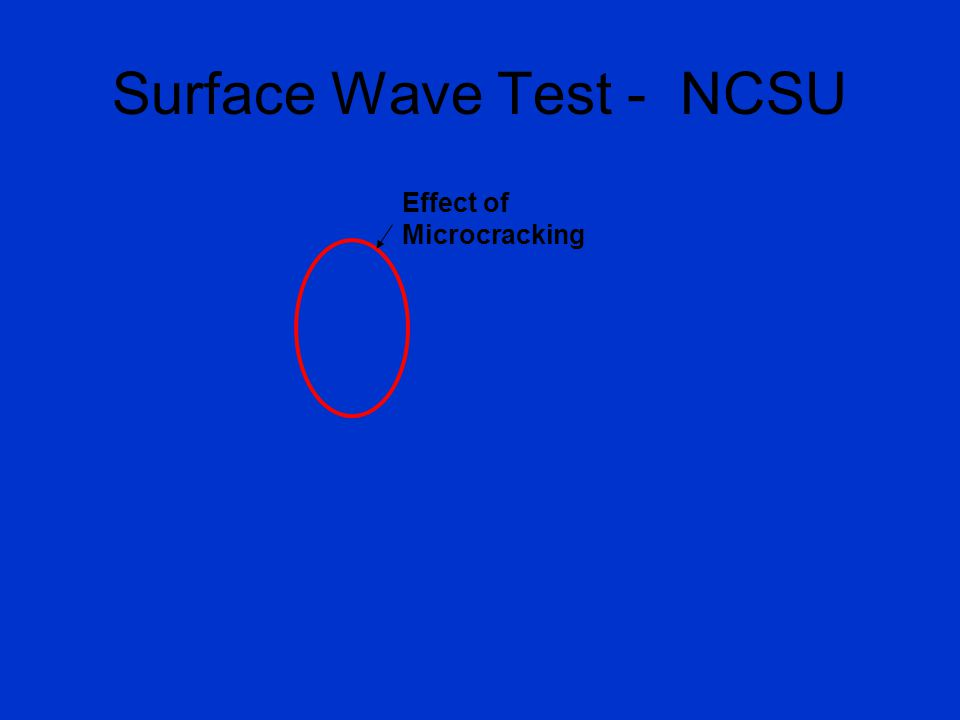Surface Wave Test - NCSU Effect of Microcracking