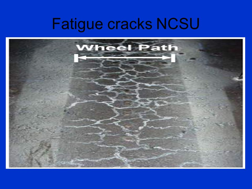 Fatigue cracks NCSU