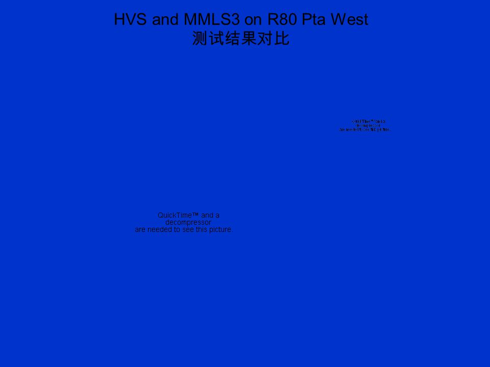 HVS and MMLS3 on R80 Pta West 测试结果对比