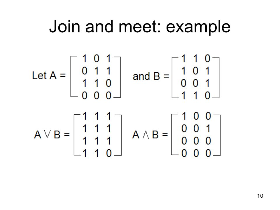 10 Join and meet: example