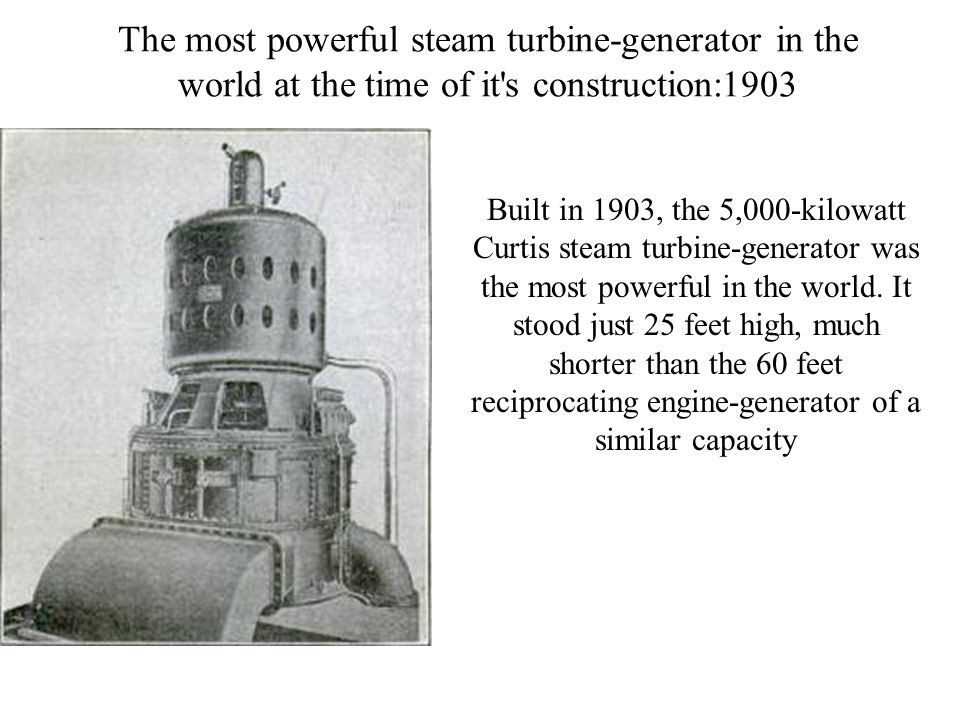Classification of Steam Turbines