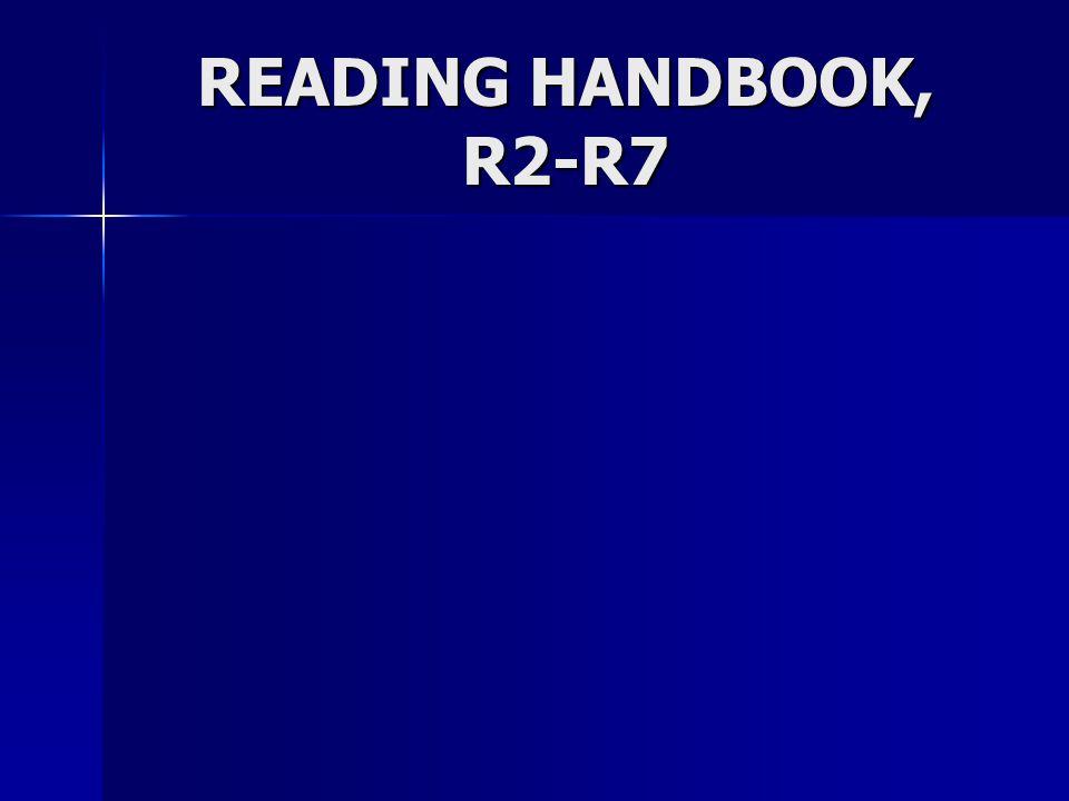 READING HANDBOOK, R2-R7