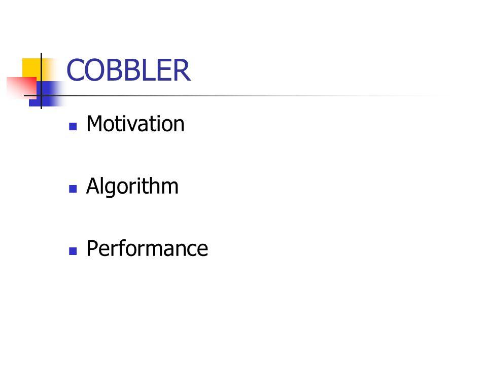 COBBLER Motivation Algorithm Performance