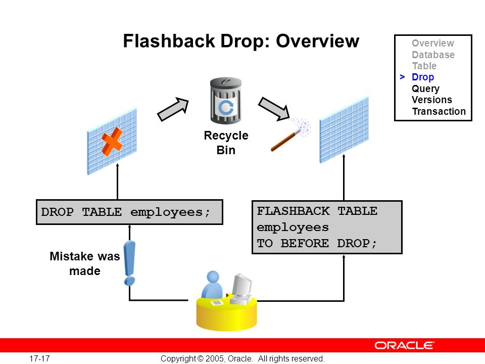 17-17 Copyright © 2005, Oracle.All rights reserved.
