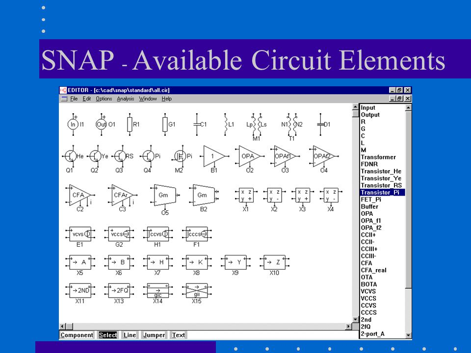 SNAP - Available Circuit Elements