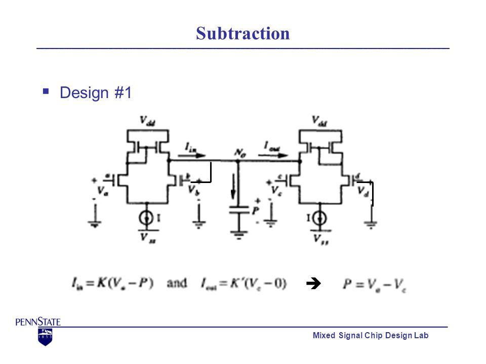 Mixed Signal Chip Design Lab Subtraction  Design #1 