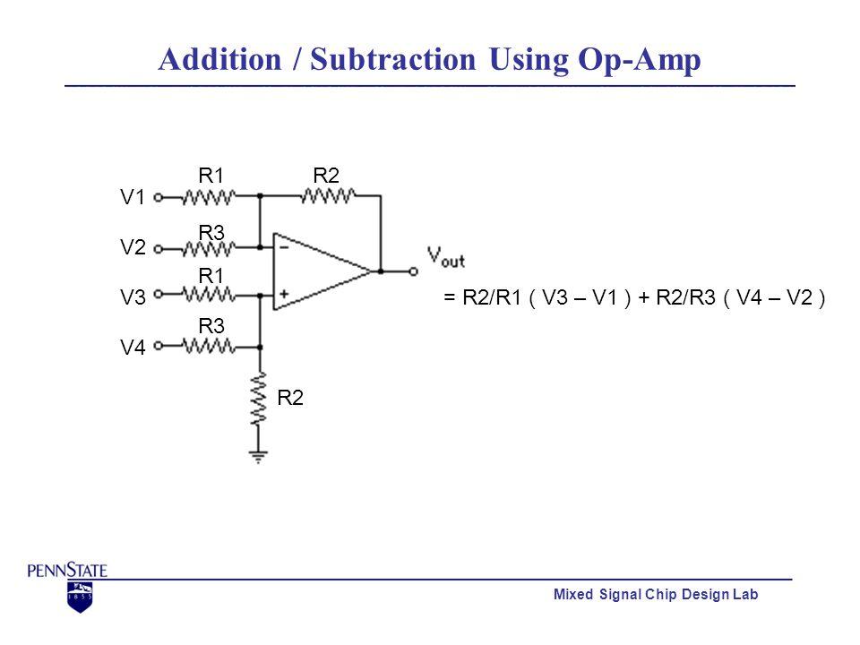 Mixed Signal Chip Design Lab Simulation (1.50460 V)(2.25000 V)