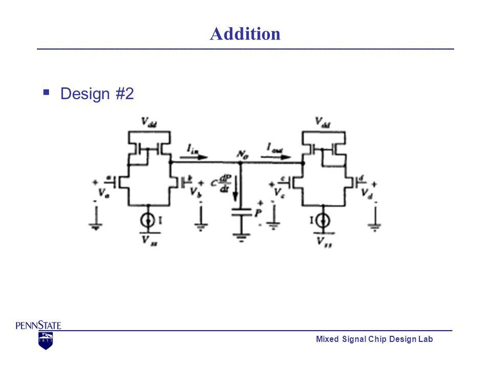 Mixed Signal Chip Design Lab Addition  Design #2 