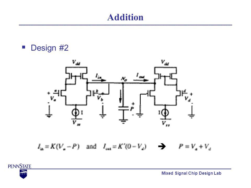 Mixed Signal Chip Design Lab Addition  Design #3 (Similar to Design #1)