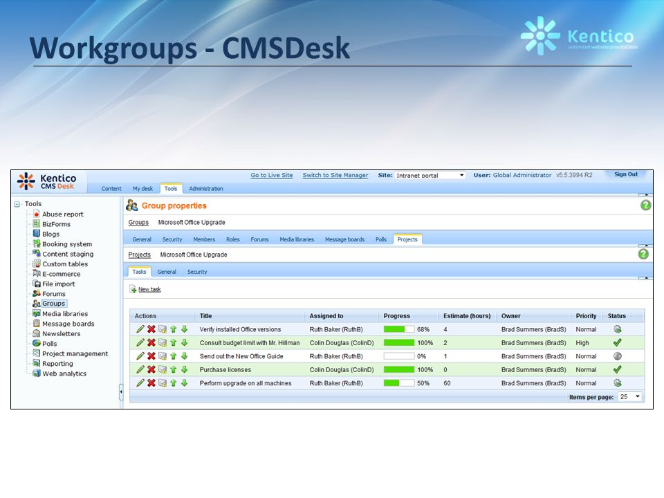Workgroups - CMSDesk