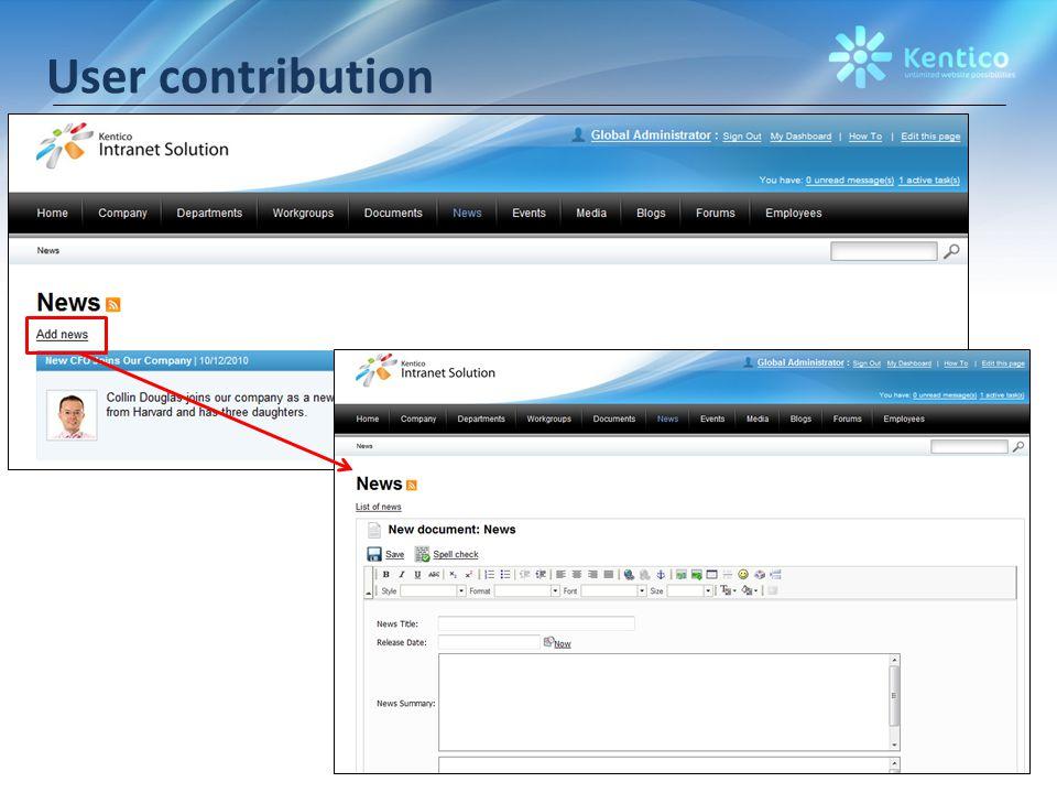 User contribution