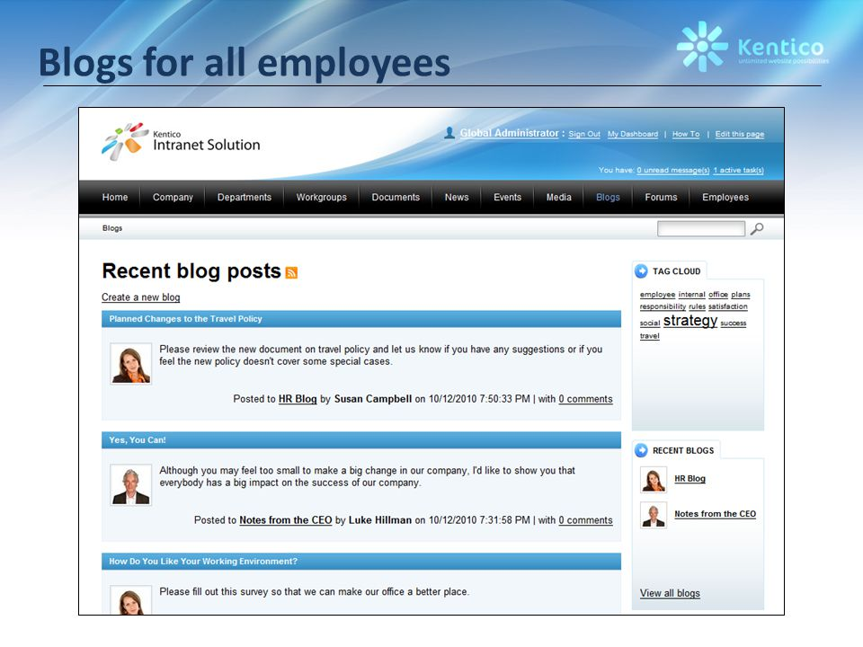 Blogs for all employees