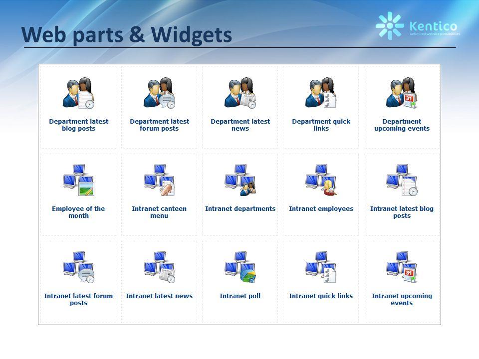 Web parts & Widgets
