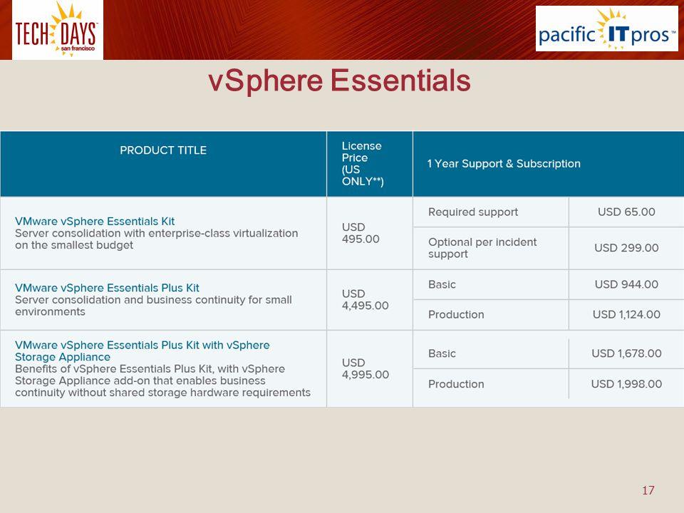 vSphere Essentials 17