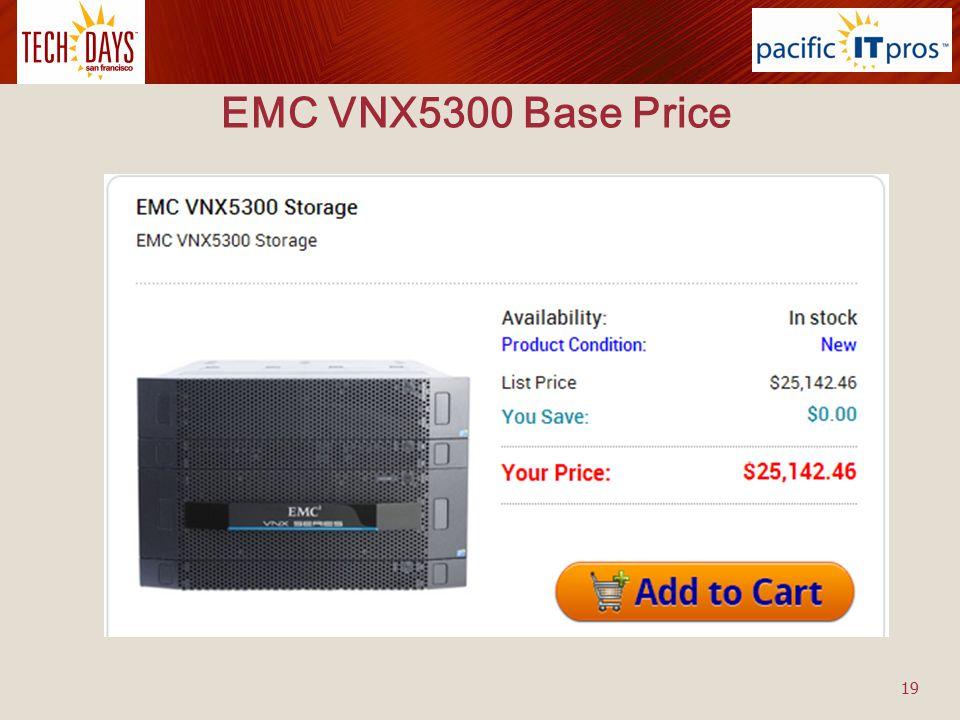 EMC VNX5300 Base Price 19