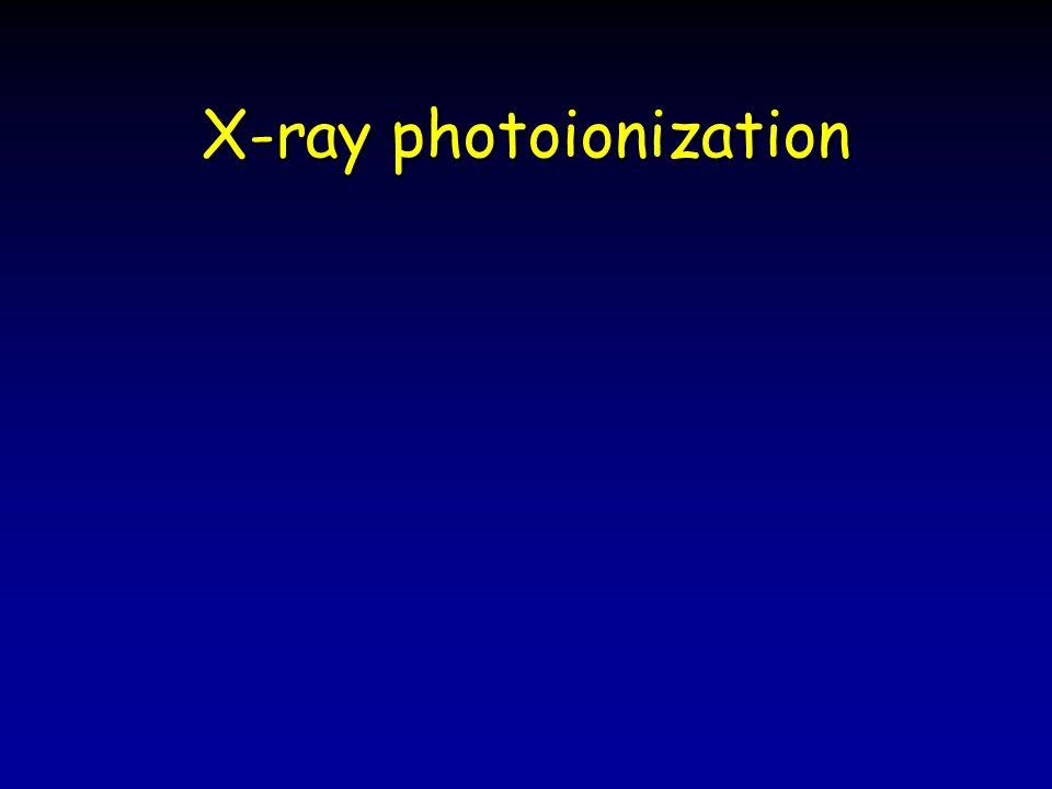 X-ray photoionization