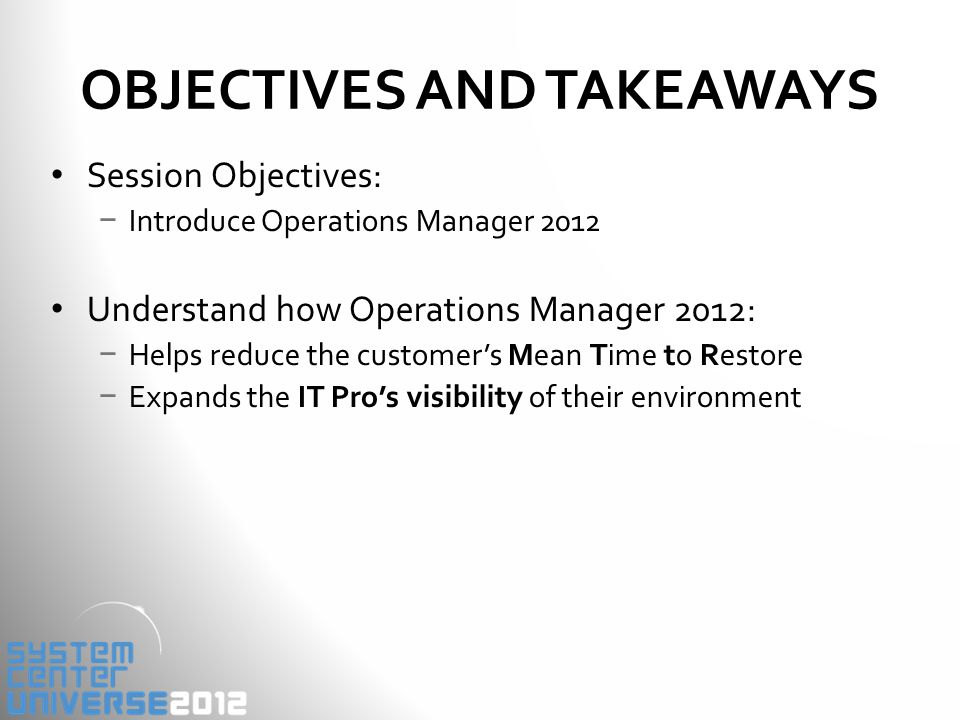 EXPANDING THE IT PRO'S VISIBILITY Operations Manager 2007 SP1