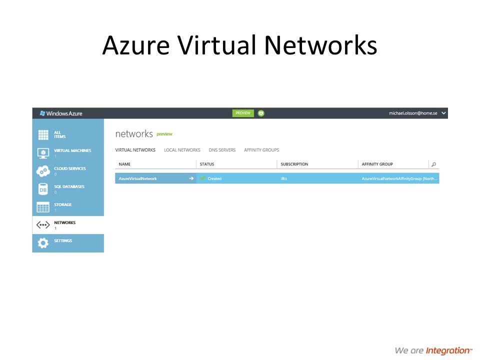 Azure Virtual Networks