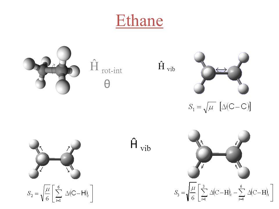 Ethane Ĥ rot-int θ Ĥ vib