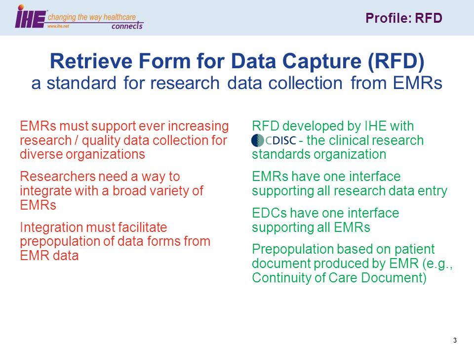 Profile: RFD 14 CCD Header - recordTarget Name Gender Date of Birth Slide courtesy of