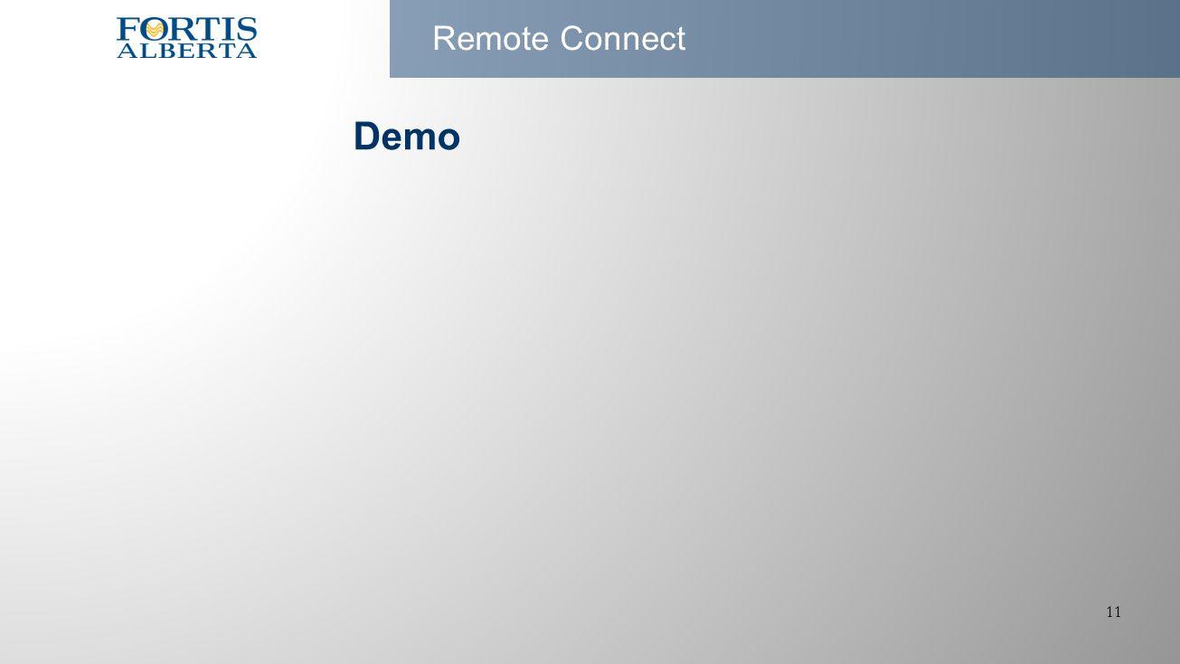 11 Remote Connect Demo