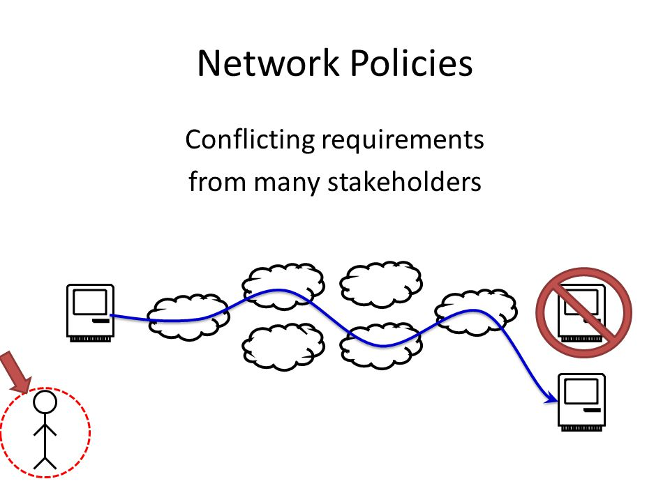 Network Policies Conflicting requirements from many stakeholders