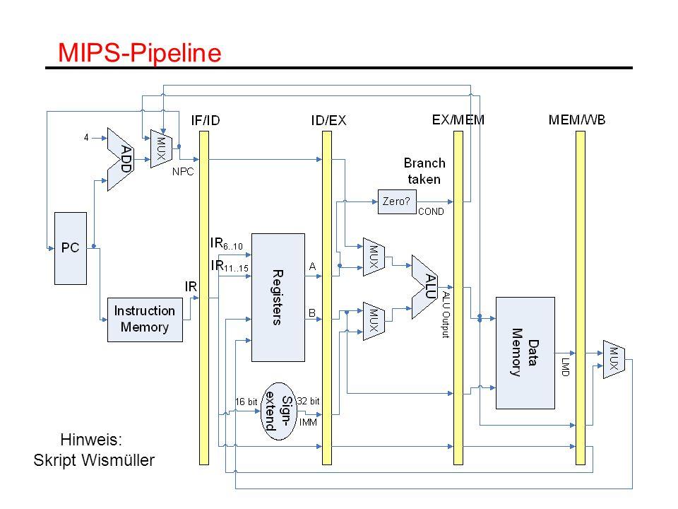 MIPS-Pipeline Hinweis: Skript Wismüller