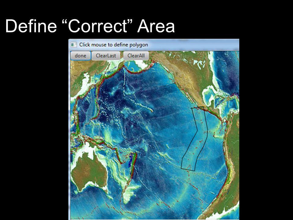 Define Correct Area area