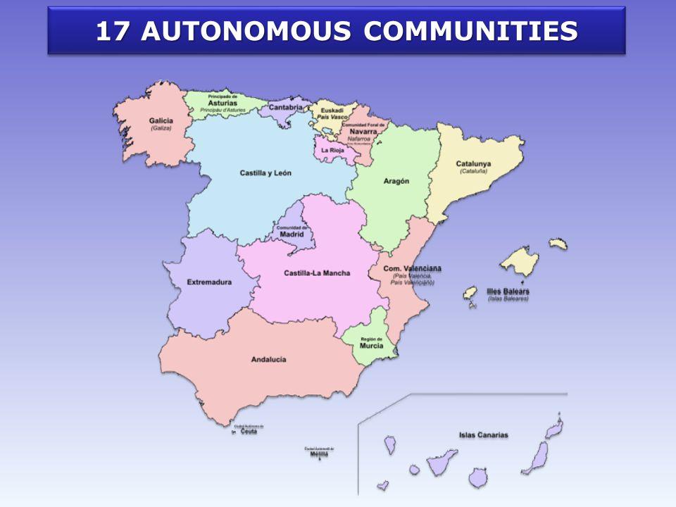 17 AUTONOMOUS COMMUNITIES