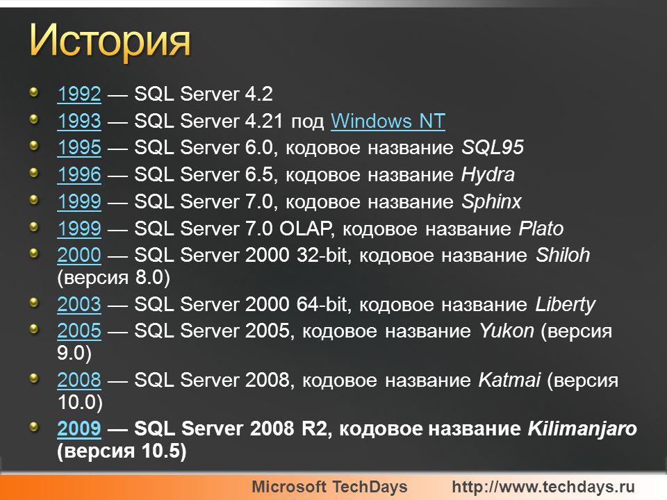 Microsoft TechDayshttp://www.techdays.ru Новый интерфейс