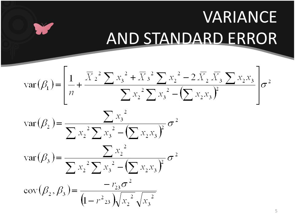 VARIANCE AND STANDARD ERROR 5