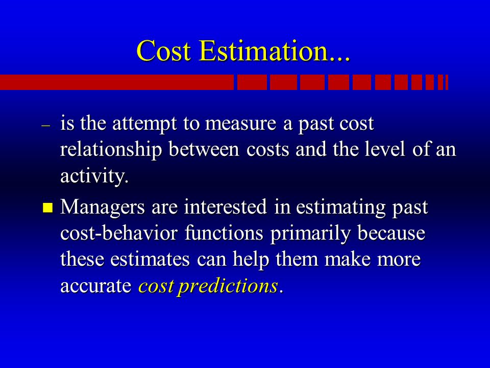 Cost Estimation...